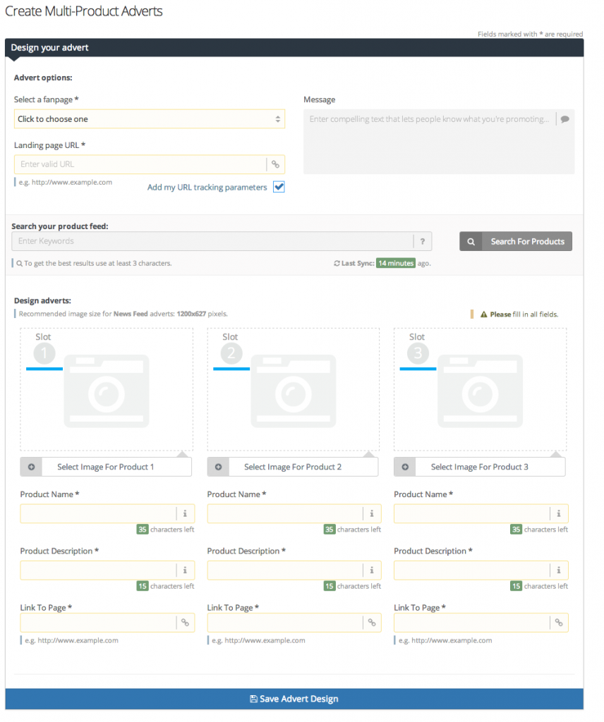 Multi-Product Advert Workflow - StitcherAds