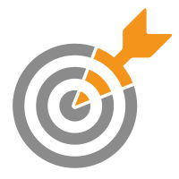 icon of arrow on target representing facebook advertising retargeting