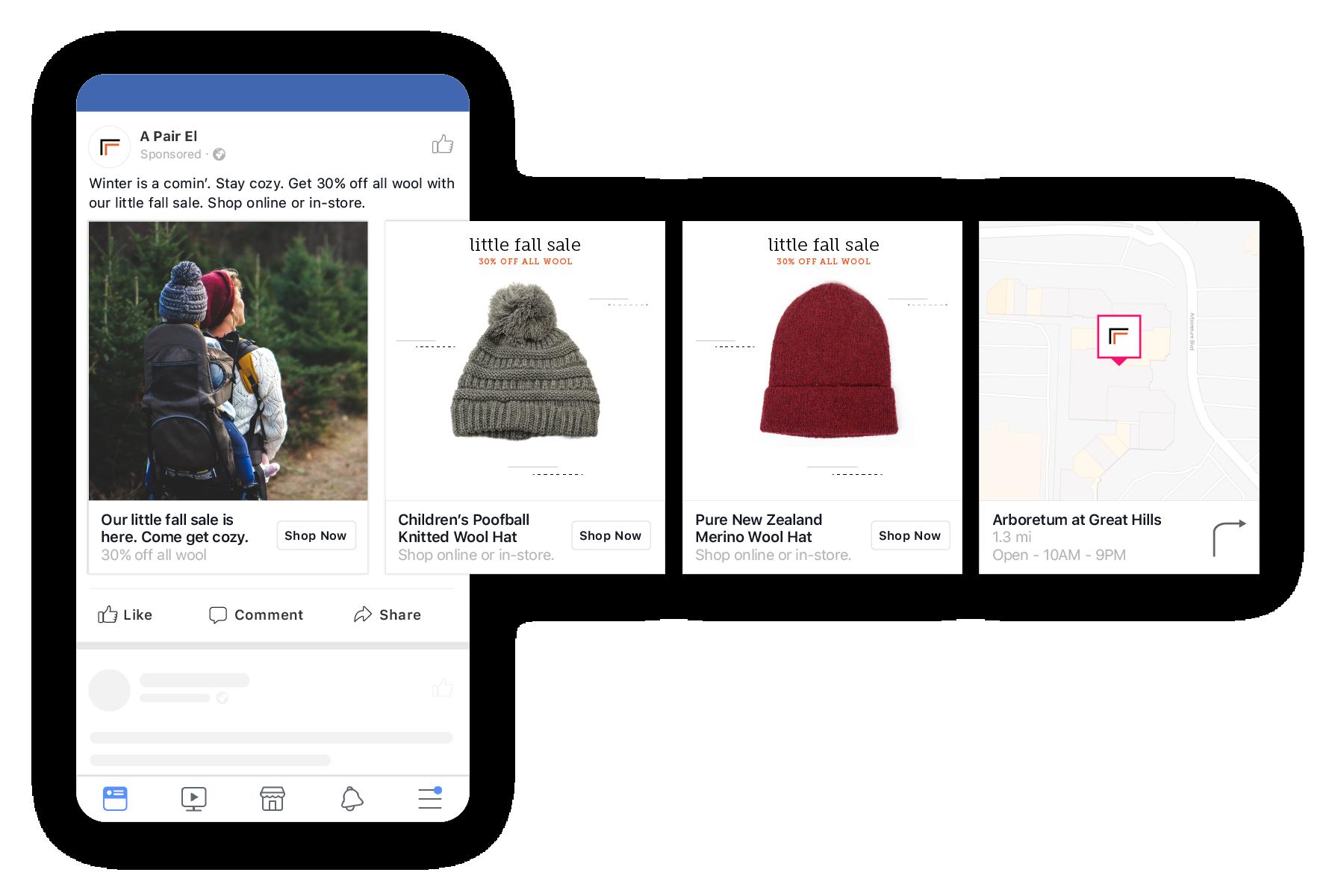 UGC for facebook dynamic ad